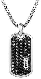 David Yurman Men's Pavé Enhancer Black Diamond Dog Tag Necklace