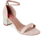 Betsey Johnson Blush Nyla Embellished-Heel Two-Piece Sandals