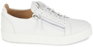Giuseppe Zanotti Ribbed Zip Leather Runners