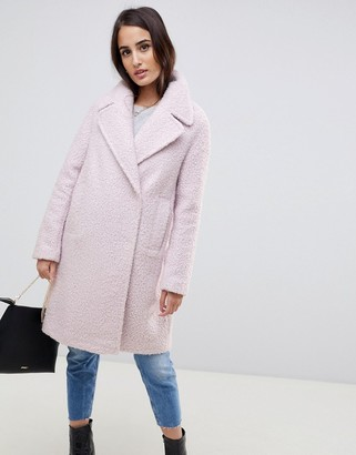 Asos Design DESIGN oversized textured pastel coat-Purple