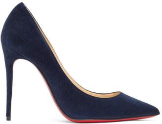 Christian Louboutin Navy Suede Kate 100 Heels