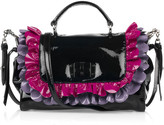 Miu Miu Patent-leather ruffle bag