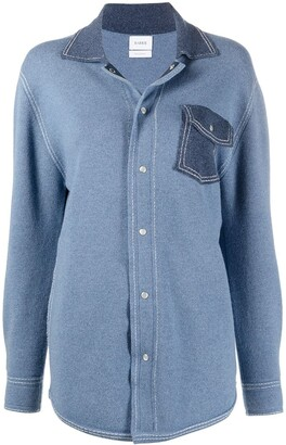 Barrie Oversized Cashmere And Cotton-Blend Shirt
