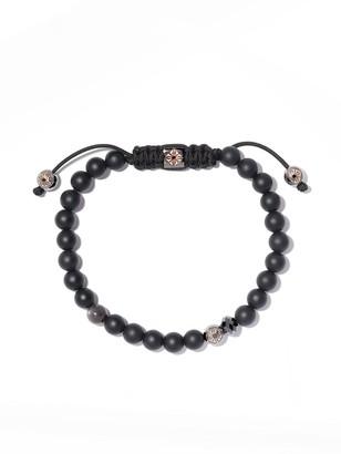 Black Diamond Shamballa Jewels 18kt rose gold & beaded Non-Braided bracelet