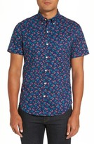 Bonobos Men's Riviera Slim Fit Cherry Print Sport Shirt