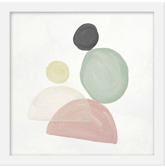 Pottery Barn Kids Abstract Pastel Shapes III Framed Art