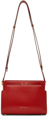 Marni Red Trunk Reverse Shoulder Bag
