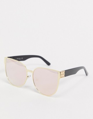 Jeepers Peepers round sunglasses in pink lens