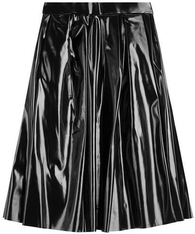 Marc Jacobs Pleated Patent Skirt