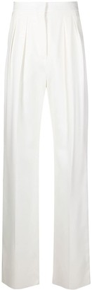 Sportmax Ovale cotton-twill trousers