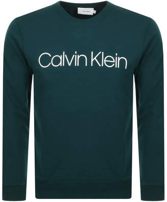 Calvin Klein Logo Crew Neck Sweatshirt Green