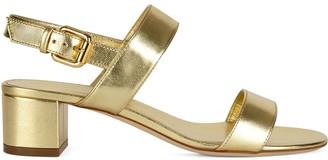 Giuseppe Zanotti Metallic Strappy Sandals