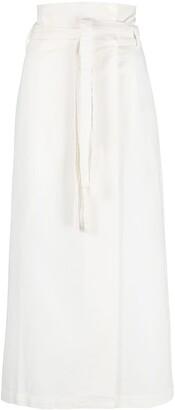 FEDERICA TOSI High-Rise Straight-Leg Wrap Skirt