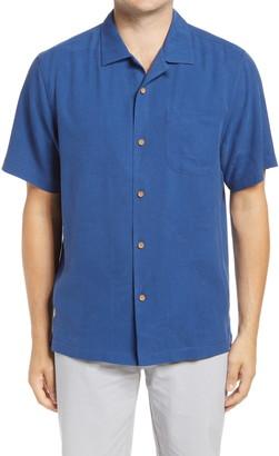 Tommy Bahama Hail Mary Short Sleeve Silk Button-Up Camp Shirt