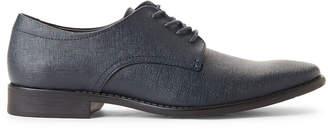 Calvin Klein Dark Navy Ridge Saffiano Derby Shoes