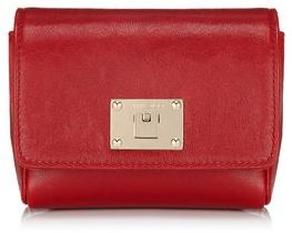 Jimmy Choo Ruby Nappa Leather Clutch Bag with Chain Shoulder Bag