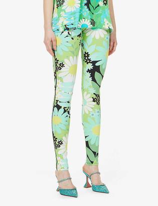 MONCLER GENIUS x Richard Quinn floral-print high-rise stretch-woven leggings