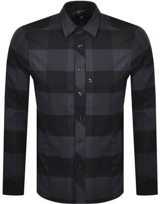 G Star Raw Checked Long Sleeved Shirt Blue