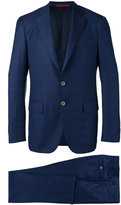 Isaia checked dinner suit - men - Wool/Cupro - 48
