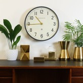 Graham and Green Mr Edwards Clock In Matte Grey