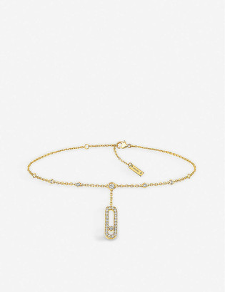 Messika Move Uno 18ct yellow-gold and diamond ankle bracelet