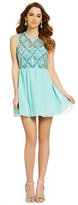 As U Wish Sequin Illusion Tank Party Dress
