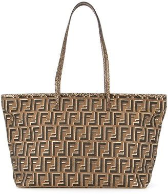 Zucca Pattern Shoulder Tote Bag