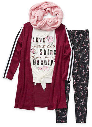 Knitworks Knit Works Girls 3-pc. Legging Set Preschool / Big Kid