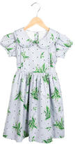 Rachel Riley Girls' Floral Print A-Line Dress