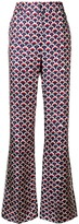 Valentino scalloped logo print trousers