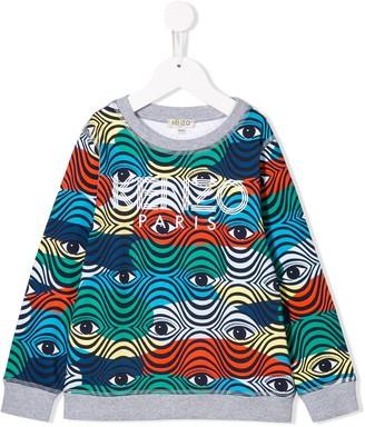 Kenzo Kids Contrast Logo Sweatshirt