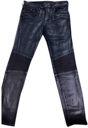 Diesel Silver Cotton Trousers for Women