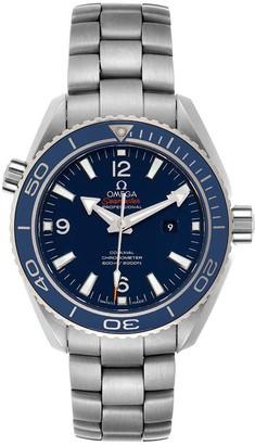 Omega Blue Titanium Seamaster Planet Ocean 232.90.38.20.03.001 Men's Wristwatch 37.5 MM