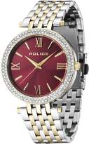 Police Women's PL14504JSTG16M Fashion Dazzle Watch with 3 Hands