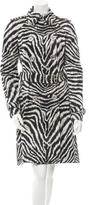 Michael Kors Zebra Print Trench Coat