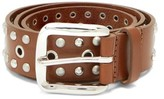 Isabel Marant Rica Studded Leather Belt - Womens - Brown