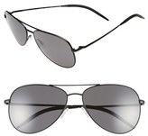 Oliver Peoples Women's 'Kannon' 59Mm Polarized Aviator Sunglasses - Matte Black