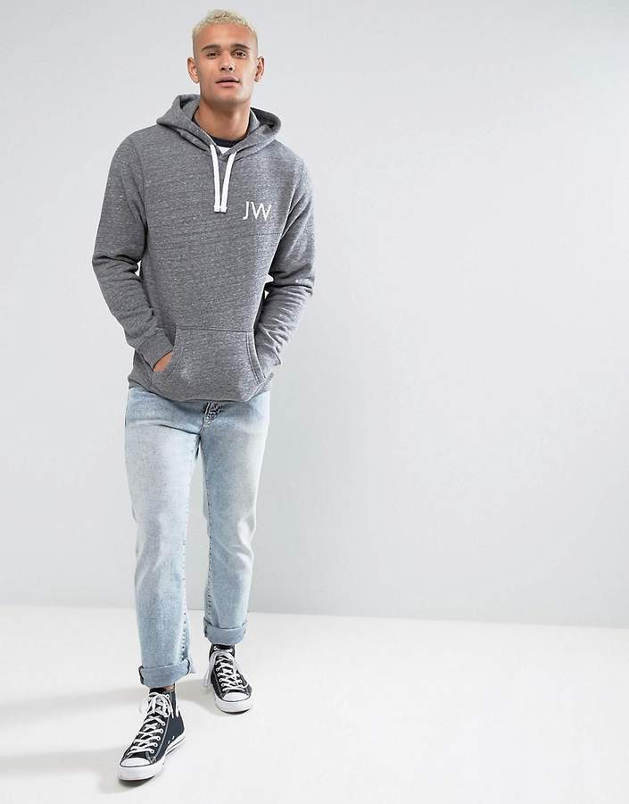 Jack Wills Batsford Hoodie With Back Print In Grey