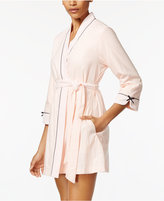 Kate Spade Terry-Trimmed Wrap Robe