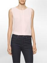 Calvin Klein Pleated Sleeveless Shell