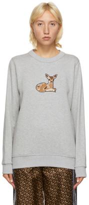 Burberry Grey Deer Motif Sweatshirt