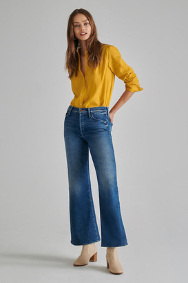 Mother The Tomcat Roller Ultra High-Rise Wide-Leg Jeans By in Blue Size 25