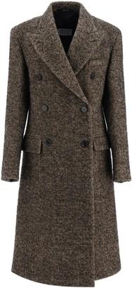 Maison Margiela Chevron Wool Long Coat