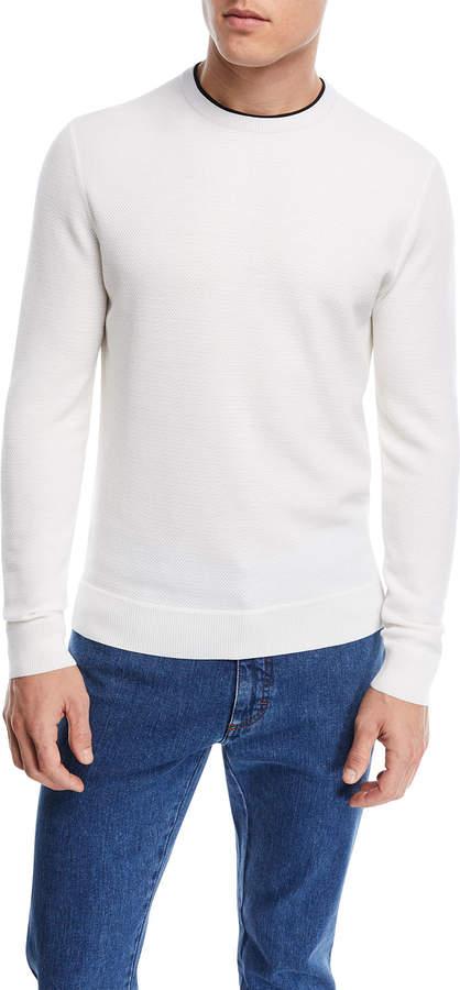 Ermenegildo Zegna Contrast-Trim Wool Sweater