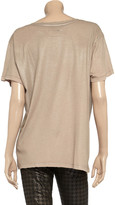 Current/Elliott Foil-effect cotton T-shirt