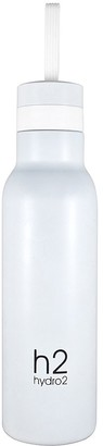 Hydro2 Quench Double Wall Stainless Steel Water Bottle 500ml White