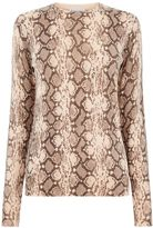 Warehouse Snake Print Jumper