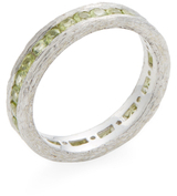 Elizabeth Showers Silver & Peridot Birch Channel Stack Ring