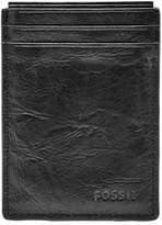 Fossil Men's Neel Magnetic Leather Money Clip Card Case - Black