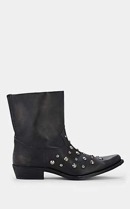 Golden Goose Women's Tribute Distressed Leather Ankle Boots - Black